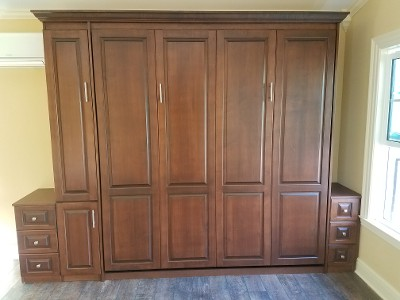 Traditional Raised Panel Murphy bed
